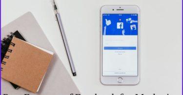 facebook marketing features