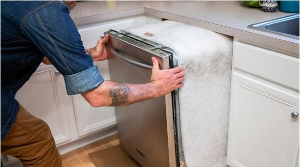 Replacing a Dishwasher Insulation Blanket