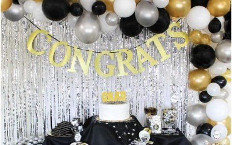Graduation party decor